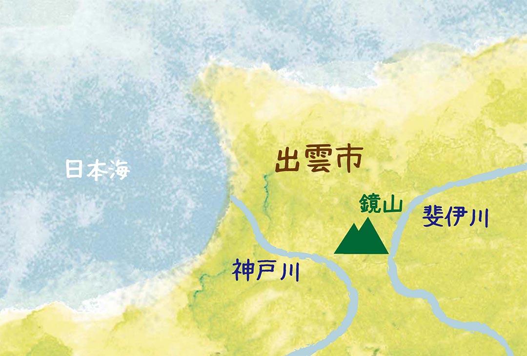 島根県出雲市にある鏡山